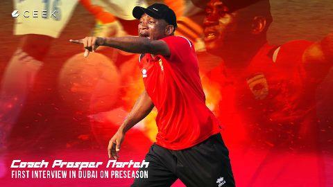 Coach Prosper Narteh first interview in Dubai on preseason video