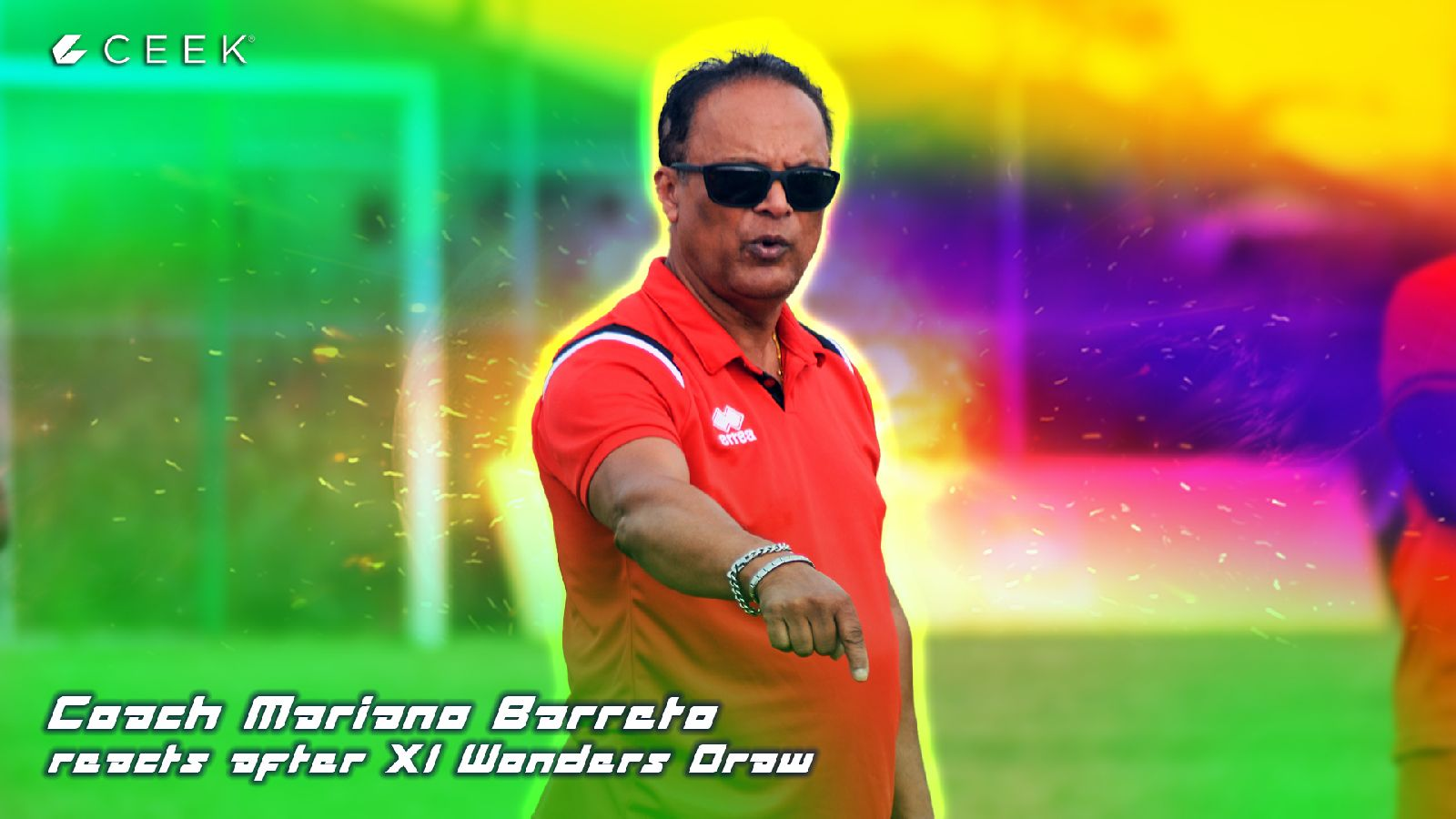 Coach Mariano Barreto reacts after XI Wonders Draw