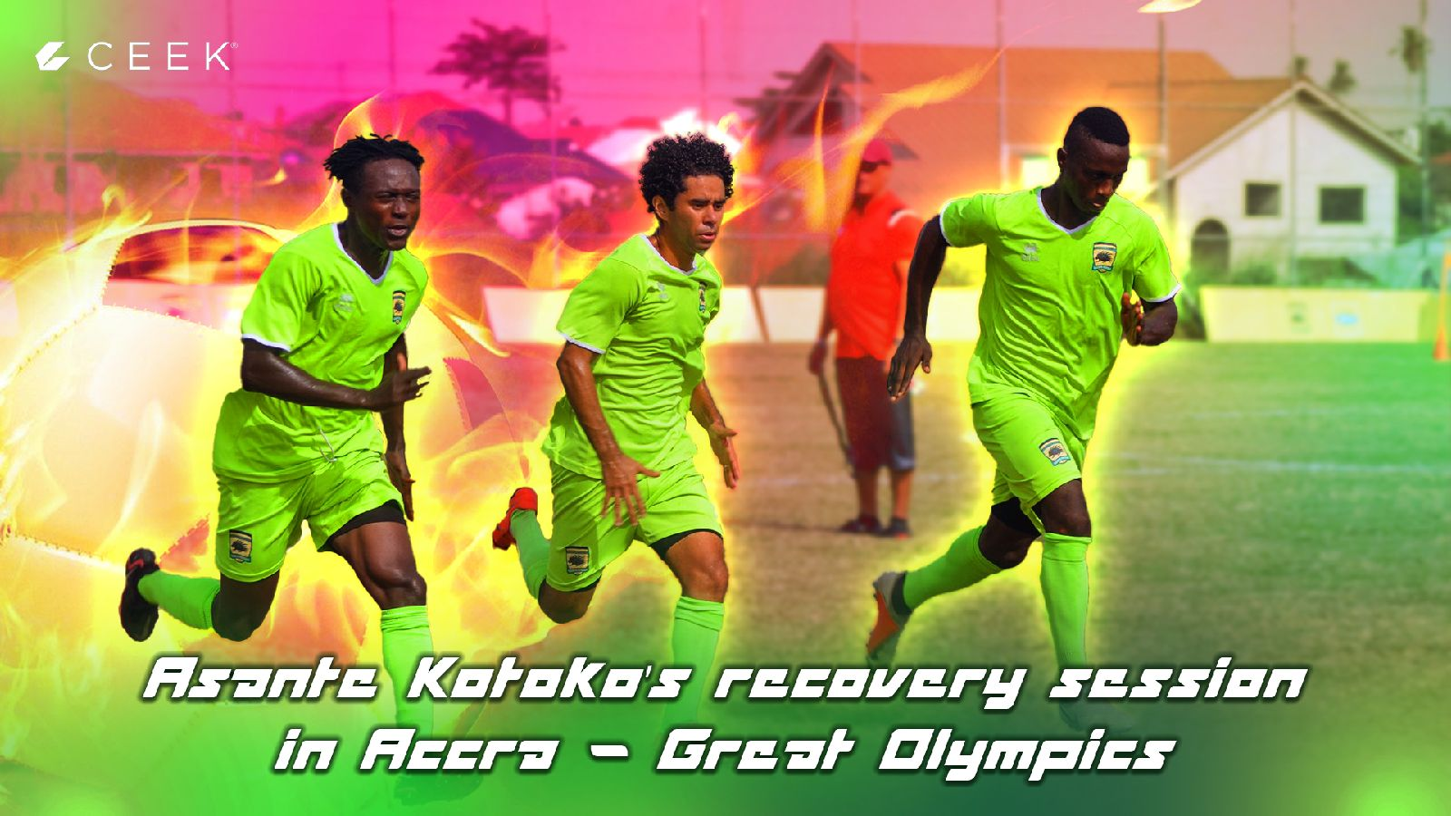 Asante Kotoko's recovery session in Accra | Great Olympics
