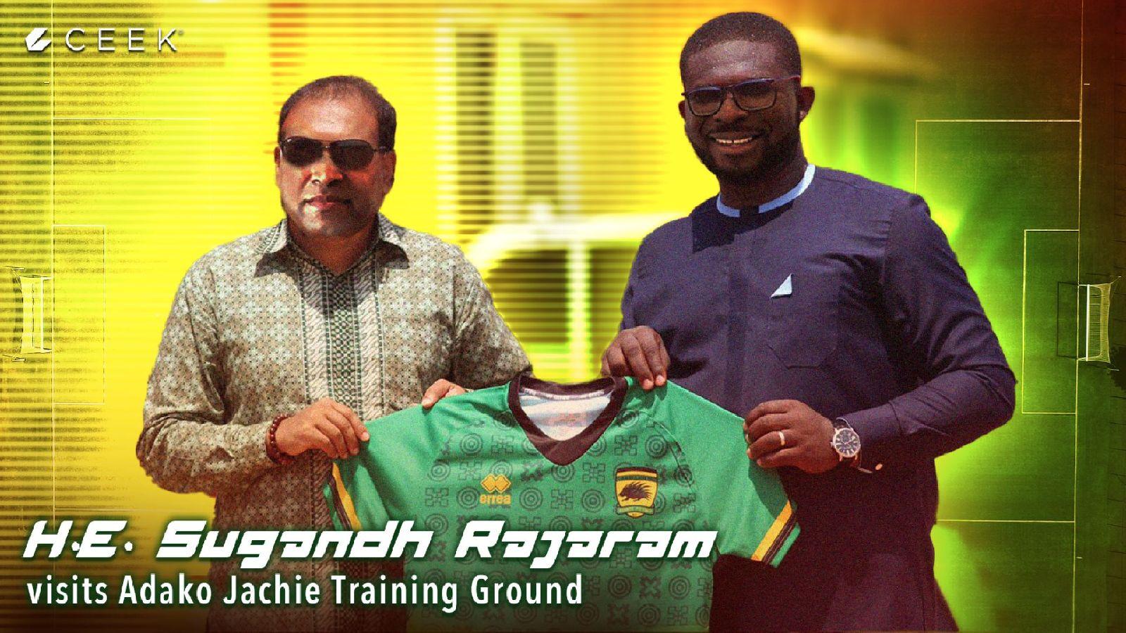 Indian High Commissioner to Ghana, H.E. Sugandh Rajaram visits Adako Jachie Training Ground