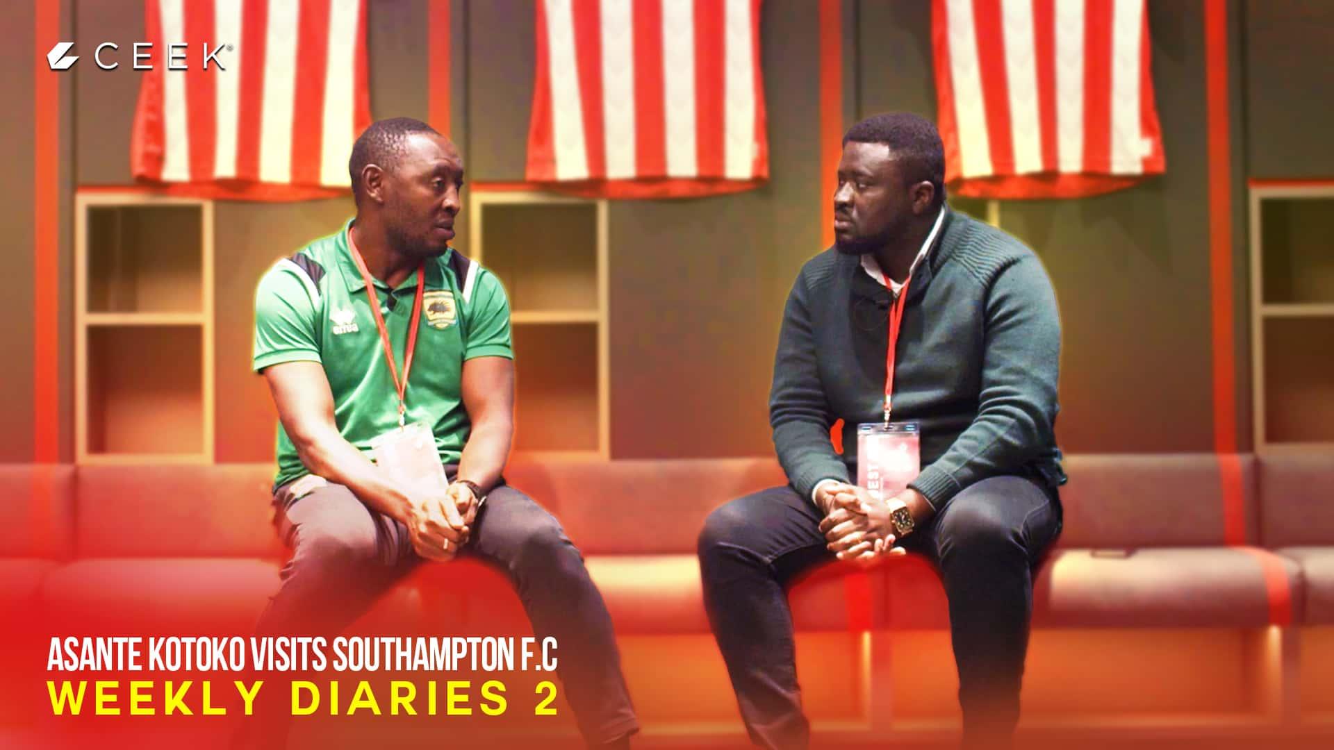 Asante Kotoko visits Southampton F.C: Weekly Diaries 2 ceek.com
