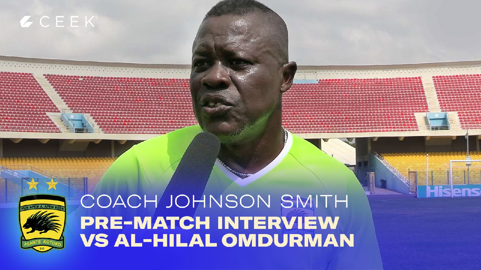 Coach Johnson Smith - Pre-match interview vrs Al-Hilal Omdurman