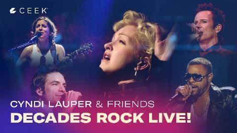 Decades Rock Cyndi Lauper video