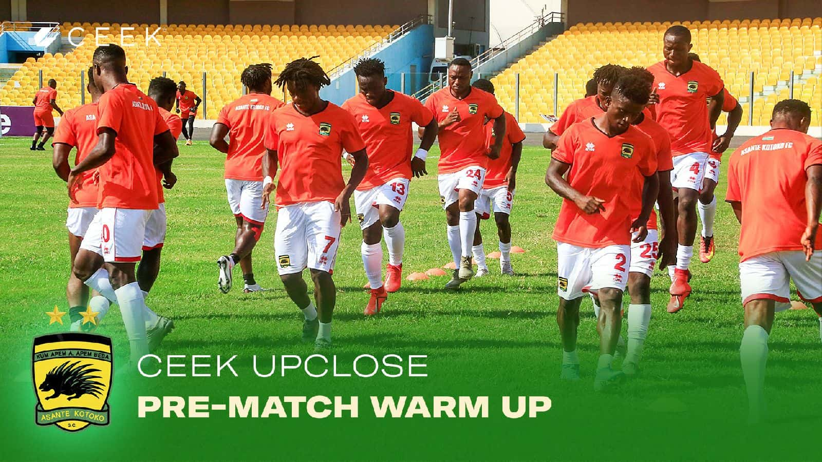 Pre-Match Warm Up ceek.com