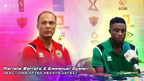 Mariano Barreto and Emmanuel Gyamfi reactions after Hearts defeat video