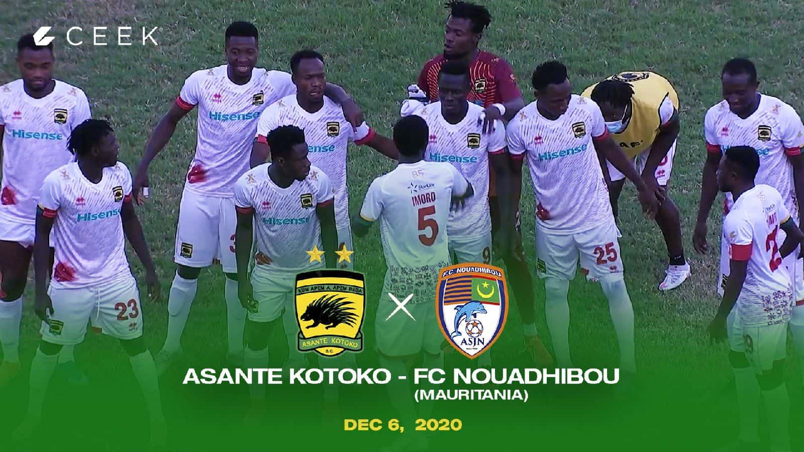 CAF Champions League - Asante Kotoko vs F.C. Nouadhibou ceek.com